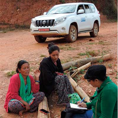Emergency response to recovery (Nepal)